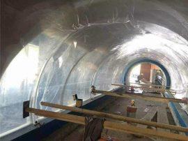 桂林隧道海洋馆施工现场-亚克力鱼缸专注定做厂家