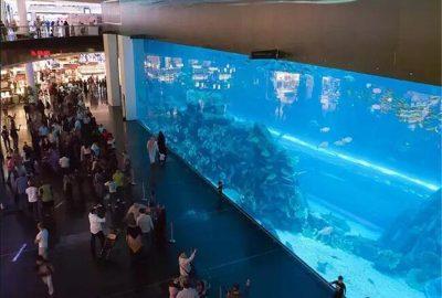 迪拜商城 亚克力鱼缸 尊海承建