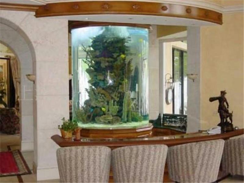 高档别墅花园亚克力鱼缸定做