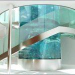鱼缸定做-大型亚克力鱼缸定做-楼梯圆柱旋转鱼缸定做